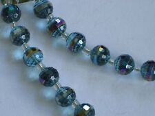 """BEAD GALLERY """"GLASS AQUA LUSTER"""" 10MM - 8"""" STRAND  FOR JEWERLY MAKING"""
