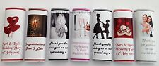 50 Personalised Chocolate Bar Wedding Wrappers any picture/any message