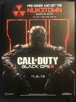 Call Of Duty Black Ops 3 Promo Book Treyarch Activision GameStop Limited Amount!