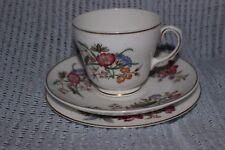 Wedgwood, Sandon, Trio Tea Cup Saucer Cake Plate Oriental Flowers & Butterflies