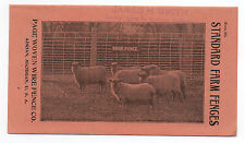 1915 Advertising Brochure for Standard Farm Fences Page Fence Co Adrian MI