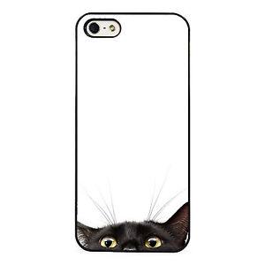 Black Cat Peeking Case fits iPhone phone case