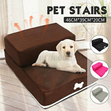 Pet Stairs 2 Steps Dog Puppy Cat Ladder Ramp Step Portable Couch Bed Washable