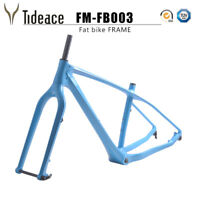 26er Carbon Fiber Fat Bicycle Frame T800 Snow Bike Frameset 16/18/20 OEM Frame