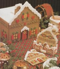 Plastic Canvas Pattern ~ Gingerbread Village Coaster & Doorstop ~ Instructions