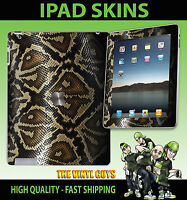 Apple Ipad 2 , 3 ,3G, 4G & Wifi Adhesivo de Vinilo Piel Serpiente 001 Estilo No