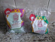 McDonald's 1995 Muppets Miss Piggy and Fozzie Toys NEW!