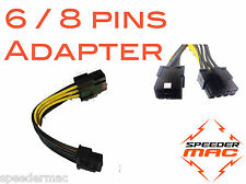 Adaptateur carte graphique PCI-Express PCIe Molex 6 pins vers  8 pins (10 cm)