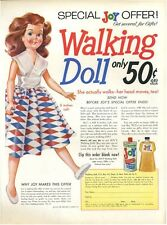 1956 Joy Soap Walking Doll PRINT AD