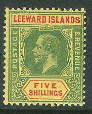 Leeward Islands 1912 green/red on yellow 5/- mint SG57