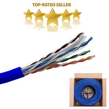 CAT6 1000FT 23AWG Solid UTP Network Ethernet Cable 550MHZ Bulk Wire RJ45 Blue