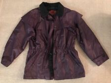 Vtg The Woolrich Woman's Coat Jacket Plaid Lining Purple Nylon Cotton Sz L #C4