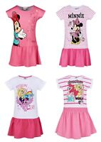 Girls Kids Disney Minnie Mouse My Little Pony Summer Dress Tunic Age 2-8 Years
