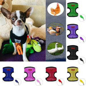 Pet Puppy Cat Harness and/or Leash Chicken Duck Breathable Chest Strap Mesh Vest