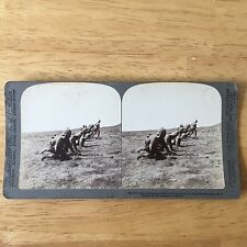 Stereoview The Worcesters Leading The Attack On A Kopje Held By Boers Norval's