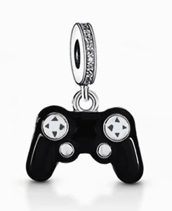 GAMING CONTROLLER CHARM PLAYSTATION PS4 XBOX 925 STERLING SILVER GIFT 💜💛💜