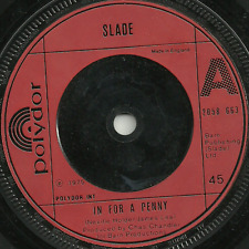 SLADE - IN FOR A PENNY / CAN YOU JUST IMAGINE- 1975 - ORIGINAL 70s GLAM ROCK POP