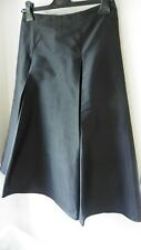 PHASE EIGHT BLACK PURE SILK FLARED OCCASION SKIRT SIZE 10  R51