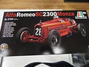Italeri Alfa Romeo 8C 2300 Monza 1/12 Formula 1 F1 Plastic Model Car Kit 4706