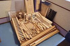 50+ casa delle bambole assortimento JOB LOTTO DI articoli fai da te in legno/porte/Newel Pali ect 1.12