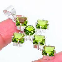 """Peridot Gemstone Ethnic Handmade Gift Jewelry Pendant 1.85"""" VS-3583"""