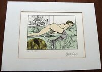 Guido Crepax EROTICA Serigraphie HC ! print 4/25 Venus signiert SM fetish domina