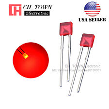 100pcs 2x3x4mm Diffused Red Light Rectangle Rectangular Square LED Diodes USA