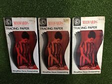 Milwards Vintage Dressmakers Sewing Tracing Paper X 3 Packs Used Dress Making
