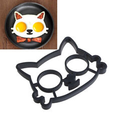 Silicone Omelette Cat Egg Fried Mould Molds Shaper Poucher Pancake Rings Tool