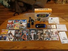SONY PSP MADDEN 09 BUNDLE METALLIC BLUE HANDHELD SYSTEM WITH 10 GAMES +