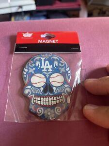 Los Angeles Dodgers Sugar Skull Magnet MLB
