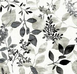 BLACK & WHITE FLORAL LEAVES A STREET PRINTS ECLIPSE WALLPAPER FD23866 SEE INFO