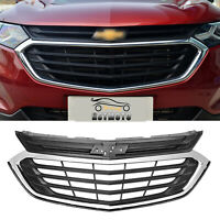 Chrome Front Upper Grille Mesh Grill For 2018 2019 2020 Chevrolet Equinox