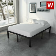 Full Bed Frame - Heavy Duty Metal Full Platform Beds with Storage - Height 14""