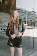 lady real nappa leather jacket BASEBALL SLIM FIT--Femme Australia