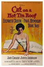 CAT ON A HOT TIN ROOF MOVIE POSTER - ELIZABETH TAYLOR