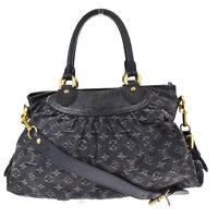 Authentic LOUIS VUITTON Neo Cabby MM 2Way Hand Bag Monogram Denim M95351 18MG704