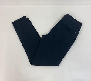 Mint Velvet Skinny Jeans Black Zip Detail Sz 12 UK Ladies W30 L27