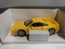 Yellow  Ferrari 348 TS (1990) Maisto 1/24 Scale Diecast!