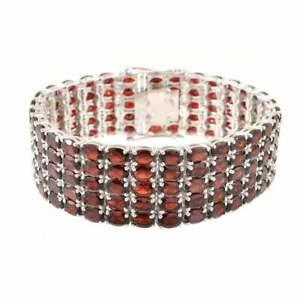 Natural Garnet Bracelet 3x5 mm Oval Wide garnet bracelet 50 Ct