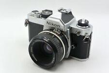 Nikon Chrome FM Manual MF SLR Camera + Choice of Lenses (e.g. 50mm f/2.0 AI)