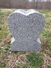 "Heart Granite Vase Gray  (6""x4.5""x7.5"")"