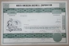 USA Old Decorated Share Stock Certificate North American Rockwell Corporation