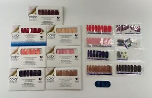 Color Street Nail Strips Lot of 7 NEW + EXTRAS Aberdeen Havana Giza Corally Salt
