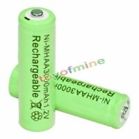 2x AA battery batteries Bulk Nickel Hydride Rechargeable NI-MH 3000mAh 1.2V Gre