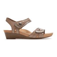 Women's ROCKPORT Cobb Hill Hollywood Khaki Leather Hook/Loop Adjustable Sandals