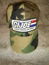 Vintage GI Joe Child Size Snapback Camo Hat Patch Real American Hero Made in USA