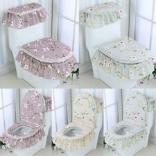 3Pcs Fashion Decor Toilet Seat Covers Home Toilet Lid Pad Bathroom Supplies