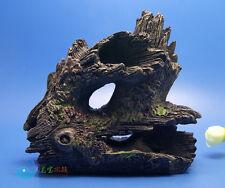 Tree Trunk Aquarium Ornament Root Drift Wood HIDE LOG -decoration fish tank moss