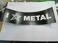 I LOVE METAL SATAN BUMPER STICKER NEW 2011 VINTAGE OOP RARE COLLECTIBLE HUMOR